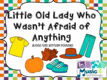 The Little Old Lady Who Wasn't Afraid of Anything Rhythm Cards