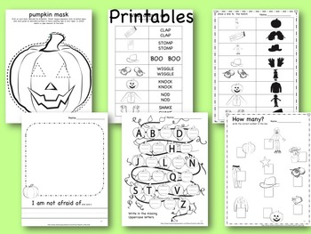 Little Old Lady Not Afraid Activity Pack:  Sequence, flannel board, LA & math