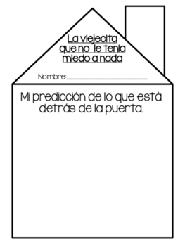 The Little Old Woman who was not Afraid of Anything Prediction Sheet / SPANISH