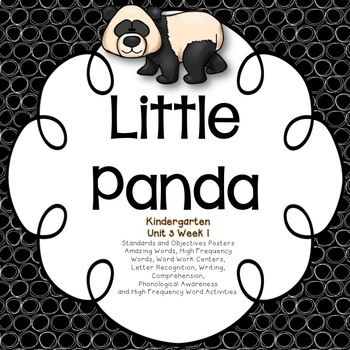The Little Panda Kindergarten Unit 3 Week 1