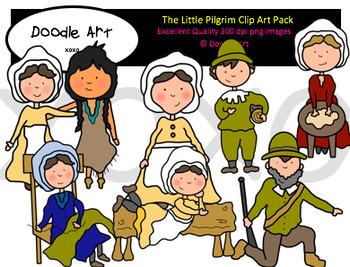 The Little Pilgrim Clipart Pack