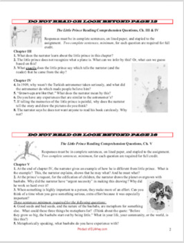 The Little Prince BIG Pack, 68 pgs: tests, chapter quest, writing, ...