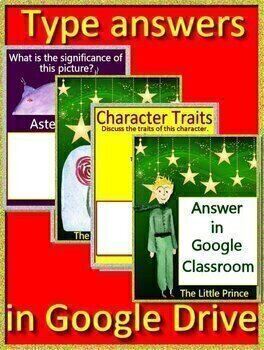 The Little Prince Novel Study Unit Use With OR Without Google Drive