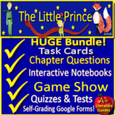 The Little Prince Novel Study Print AND Google Paperless with Self-Grading Tests