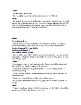 The Little Prince Novel Study