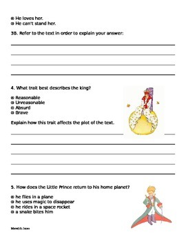The Little Prince PARCC-style assessment