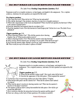 the little prince essay topics