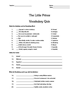 Reflecting Essay The Little Prince Vocabulary Quiz Essay Topic By Tomorrowcomes The Little  Prince Vocabulary Quiz Essay Topic Custom Essay Paper also Discourse Community Essay Example Little Prince Essay The Little Prince Stuff To Buy Poem Quotation  Essay On Animal Husbandry