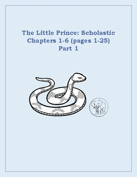 The Little Prince- Vocabulary Unit  (Part 1) Scholastic Version