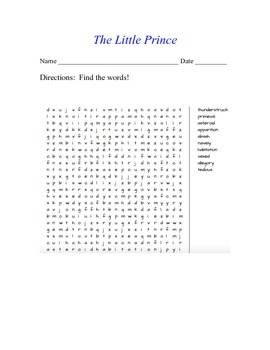 The Little Prince Word Search