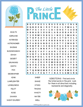 The Little Prince Word Search Puzzle