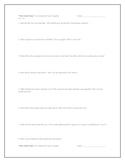 """""""The Little Prince"""", by A. de Saint Exupery, Comp. Questions"""