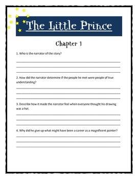 THE LITTLE PRINCE by Antoine de Saint Exupery - Novel Study