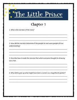 THE LITTLE PRINCE by Antoine de Saint Exupery - Novel Study