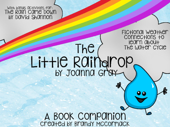 The Little Raindrop Book Companion w/ bonus activities for The Rain Came Down