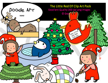 The Little Elf Clipart Pack