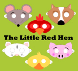 The Little Red Hen Reader's Theater Masks