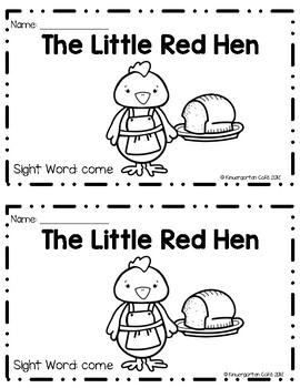 """The Little Red Hen! A Sight Word Emergent Reader """"come"""""""