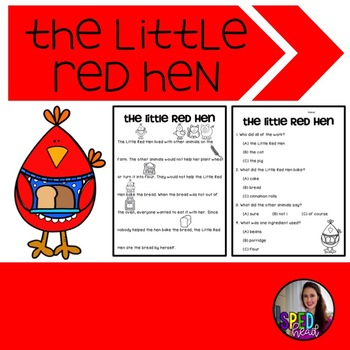 The Little Red Hen Adapted Activities; Fairy Tale