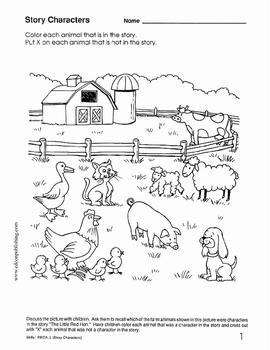 The Little Red Hen - Beginning Comprehension