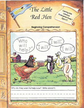 The Little Red Hen, Beginning Comprehension
