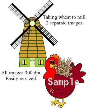The Little Red Hen Clip Art Collection - Commercial use
