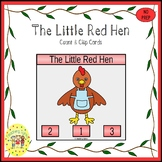 The Little Red Hen Count and Clip Task Cards