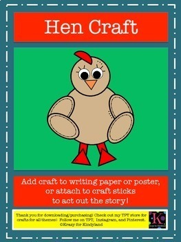 The Little Red Hen Craft Pack for Kindergarten (Fairy Tales)