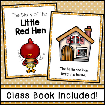 photograph regarding The Little Red Hen Story Printable known as The Small Crimson Rooster Emergent Reader FREEBIE