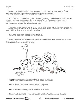 The Little Red Hen Fairy Tale Literacy Building Lesson Gr. 1-3