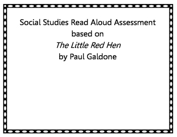 The Little Red Hen Goods and Service, Producer and Consumer Assessment