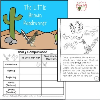 The Little Red Hen Activities with CCSS Reading, Writing, Math