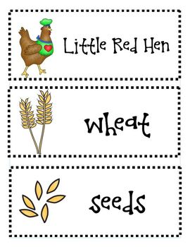 The Little Red Hen Literacy Activities aligned with the Common Core