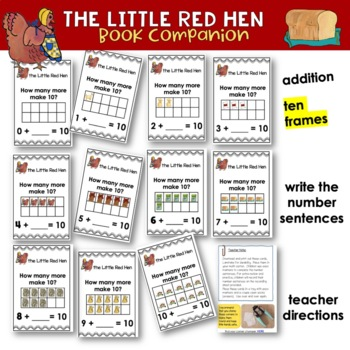 The Little Red Hen - Literacy and Math Pack - Reading-Writing-Math