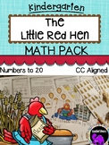 The Little Red Hen Math Activity Pack for Kindergarten