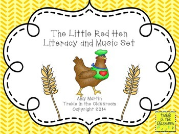 The Little Red Hen Music and Literature Activity
