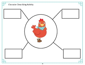The Little Red Hen Narrative Unit Activities - Speech and Language