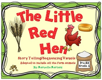 The Little Red Hen-On the FarM-Story Telling -Sequencing V