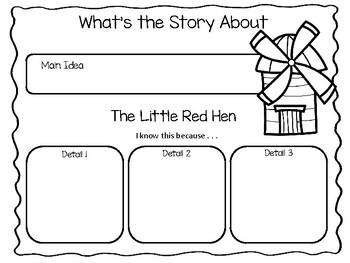 The Little Red Hen ~  Paul Galdone      ~43 pages Common Core Activities