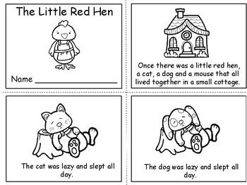 The Little Red Hen ~  Paul Galdone   ~ Emergent Reader