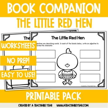 The Little Red Hen- Book Companion