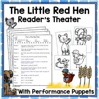 The Little Red Hen - Reader's Theater & Puppet Fun!