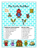 The Little Red Hen- Close Reading, Writing, and Science Activities! Farm theme