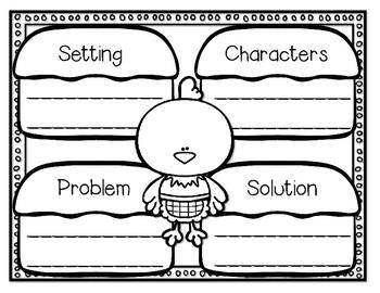The Little Red Hen--Response Journal for K-2