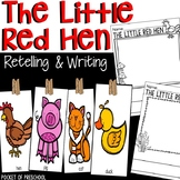 Little Red Hen Retelling with Story Cards and Writing Paper
