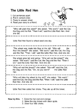 The Little Red Hen (Sequencing)