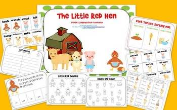 The Little Red Hen: Speech and Language Book Companion