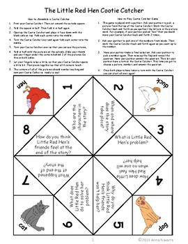 The Little Red Hen Story Cootie Catcher