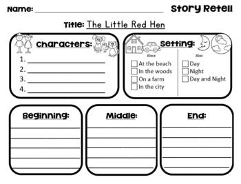The Little Red Hen - Story Retell
