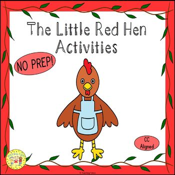 The Little Red Hen Worksheets Activities Games Printables